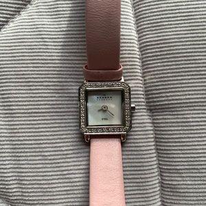 Skagen Women's watch pink leather